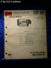Sony Service Manual SRF 88 (#2046)