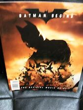 Batman Begins official movie Guide 2005 trade paperback Christian Bale
