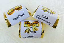 120 WEDDING ANNIVERSARY personalized WRAPPERS for your Hershey Nugget FAVORS!