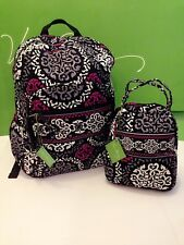 NWT Vera Bradley Large Campus Backpack & Lunch Box Bunch In Canterberry Magenta