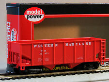 MODEL POWER HO 36' 2 BAY OPEN HOPPER WESTERN MARYLAND 99653 ho gauge train 98061
