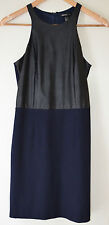 Mango. Evening Dress With Leather Look Top. Size EU S,UK 8,US XS. Black Navy