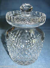 Waterford Crystal Condiment Jar  -- Mustard, Jam -- Pot with slotted Lid