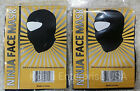 BALACLAVA BLACK NINJA FULL FACE MASK SPORT TACTICAL HAT (2 Lot)