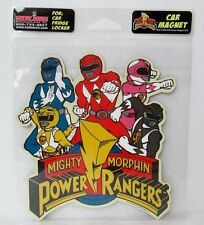 """Mighty Morphin Power Rangers 5.5"""" x 5.5"""" Magnet, Car, Fridge, Sealed Package"""