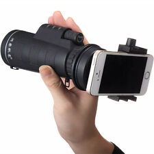 Universal 10x40 Hiking Concert Camera Lens Zoom Telescope+Smart Phone Holder