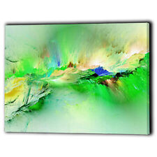 Abstract Lime Green Design Canvas Framed Panel Picture New Wall Art Prints Gifts