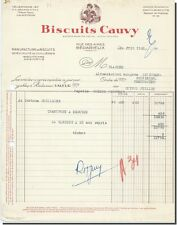 Invoice - Biscuits Cauvy Manufacture Cookies to Bédarieux 1952