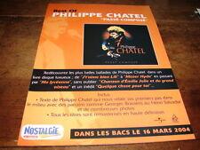PHILIPPE CHATEL - PUBLICITE PASSE COMPOSE !!!!!!!!!!!!!