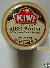 KIWI Shoe Shine Wax Polish Paste Leather Care Boot HI-Gloss 1 1/8oz NEUTRAL