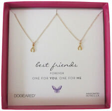 Dogeared Best Friends One For Me One For You Wishbone Gold Dip Boxed Necklaces