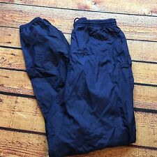 90s VTG NIKE AIR JOGGERS Windbreaker Pants UnLined M Glanz OG SHINY Tech Lab