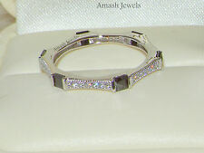 925 Silver Ring,Full Eternity Ring,Wedding band,Stackable ring,Spinel Ring 8/Q