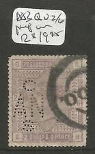 Great Britain SC 1883 QV 2/6 Perf in VFU (4cqe)