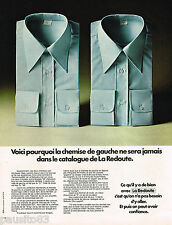 PUBLICITE ADVERTISING 055  1973  LES  chemises homme du catalogue LA REDOUTE