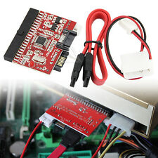 UK 3.5 IDE to SATA / SATA to IDE ATA100/133 HDD Converter Adapter + Cables PC