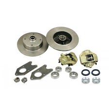 VW Bug King Pin 4 Lug Front Disc Brake Kit w/ Wheel Bearings 4x130 Dune Buggy