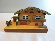 Beautiful Farmer & Cow Reuge Musical Wind Up Music Jewelry Box   Demo Video