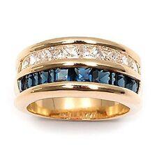Dolly-Bijoux Alliance BagueT56 Rail Saphir Diamant Cz Plaqué Or 18K MadeInFrance