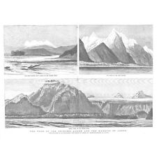 BRITISH COLUMBIA Four Sisters, Fraser River, Mount hope - Old Print 1883