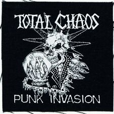 TOTAL CHAOS punk invasion CLOTH PATCH **FREE SHIPPING** -sew on punk
