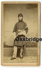 BLACK SOLDIER Original Civil War CDV Sergeant Sword 29th Colored Negro Regiment