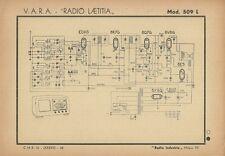 Schema Radioricevitore Vara Laetitia Mod. 509 L Radio Industria Milano 1942