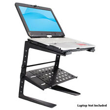 Pro DJ Height Adjustable Laptop Computer Controller EFX Stand With Shelf