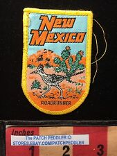 NEW MEXICO SOUVENIR WOVEN PATCH ~ Roadrunner Cactus 62K3