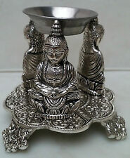 Nice Metal Oil Burner Buddha With Oil And Tea Light Candle FREE!!!
