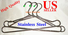 "24 pcs 16"" HEAVY DUTY Large Stainless Steel Clothes Coat Tubular  Hangers"