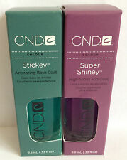 CND- Klebrig Grundierung 9,8 ml & Super Scheinig Top Coat Lack 9,8 ml Set