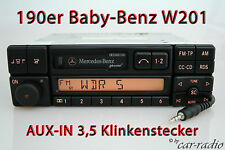 Original Mercedes w201 190er C-Klasse Special be2210 aux-en mp3 radio casete