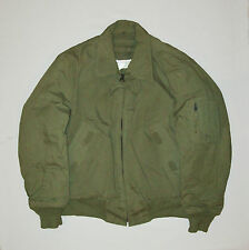 Great old vtg 1980s Bomber Flight Jacket US Army USAF Military cold weather nice