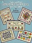 Quick and Easy Miniature Samplers for Cross-Stitch (Dover Needlework Series) by