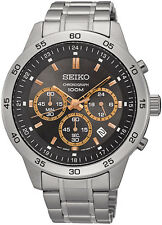 Seiko SKS521 Men's Stainless Steel Grey Dial Chronograph Analog Sports Watch