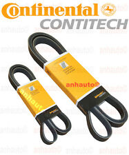 OEM Continental Belts BMW Serpentine Belt + A/C belt Contitech