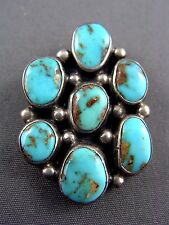 Vintage Sterling Turquoise SOUTHWESTERN Pendant Artist signed SS