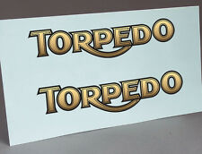 2 WATER SLIDE DECALS TORPEDO LOGO, LETTERS FOR TYPEWRITER RESTORATION