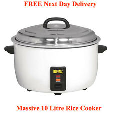 Buffalo CB944 Commercial Rice Cooker 10 Ltr @ Free Next Day Delivery