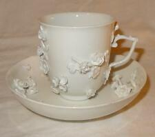 18TH CENTURY MEISSEN BLANC DE CHINE CUP & SAUCER - Maria Josepha Queen of Poland