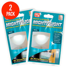 New Mighty Light Motion-Activated LED Lamp Cordless Battery As Seen on TV 2 Pack