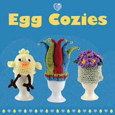 Egg Cozies Knitting & Crochet Pattern Book Easter 30 Designs Octopus Jester Hat