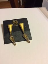 $48 House Of Harlow Earrings Gold Tone Triangle #A 3