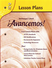 HOLT AVANCEMOS! 2:  LESSON PLANS - NEW!