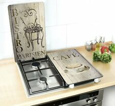 HOB COVERS SHABBY CHIC PARIS GAS ELECTRIC HOB COVERS CHOPPING BOARD RETRO SET OF