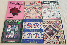 LOT OF 6 QUILT APPLIQUE BOOKS Country Songbird Quilt, Little Brown Bird Patterns