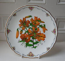 Royal Albert Plate QUEEN MOTHER'S FAVOURITE FLOWERS  Tiger Lily