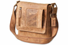 Woodland® Umhängetasche / Messenger aus natürlich ölgewaschenem Leder in Natur