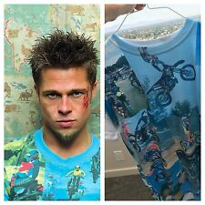 NEW Tyler Durden Fight Club Motocross Shirt Op 523 Moto Rare Size Med Brad Pitt